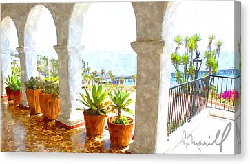 View Of San Clemente Pier Canvas Print by Roger Merrill