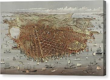 View Of San Francisco Canvas Print