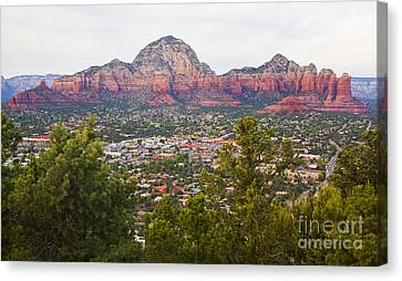 Canvas Print featuring the photograph View Of Sedona From The Airport Mesa by Chris Dutton