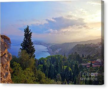View Of Sicily Canvas Print by Madeline Ellis