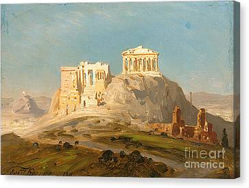 View Of The Akropolis Canvas Print by Celestial Images