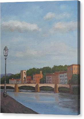 View Of The Arno 2 Canvas Print
