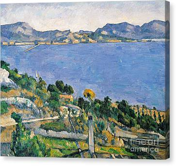 View Of The Bay Of Marseilles Canvas Print by Paul Cezanne
