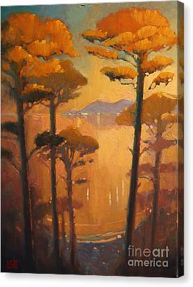 View Of The Bay Canvas Print by Robert Lewis