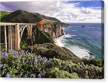View Of The Bixby Creek Bridge Big Sur California Canvas Print by George Oze