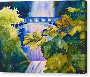 View Of The Bridge Canvas Print by Karen Stark