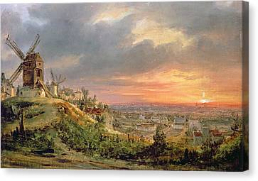 View Of The Butte Montmartre Canvas Print by Louis Jacques Mande Daguerre