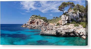 View Of The Cala Salmunia Bay Canvas Print