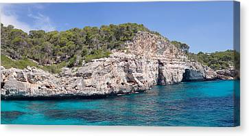 Moro Bay Image Canvas Print - View Of The Calo Des Moro Near Cala by Panoramic Images