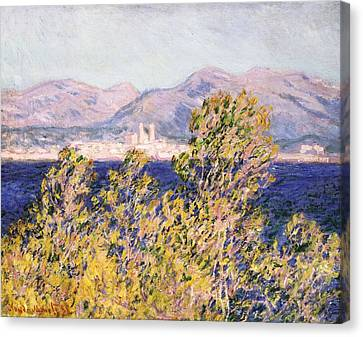 View Of The Cap Dantibes With The Mistral Blowing Canvas Print by Claude Monet