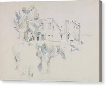 Chateau Canvas Print - View Of The Chateau Noir  by Paul Cezanne