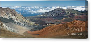 View Of The Crater In Haleakala National Park Canvas Print by Frank Wicker