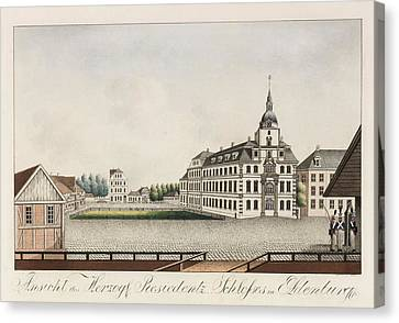 View Of The Ducal Residence Palace In Oldenburg Canvas Print