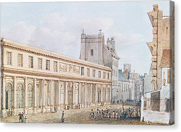 View Of The Ecole De Medecine Canvas Print by Victor Jean Nicolle