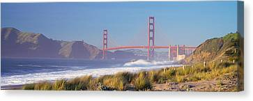 View Of The Golden Gate Bridge, San Canvas Print by Panoramic Images