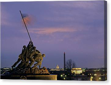 View Of The Iwo Jima Monument Canvas Print by Kenneth Garrett