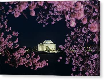View Of The Jefferson Memorial Canvas Print by Kenneth Garrett