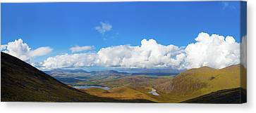 Canvas Print featuring the photograph View Of The Kerry Landscape From Macgillycuddy's Reeks by Semmick Photo