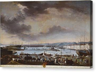 Ruiz Canvas Print - View Of The Old Port Of Toulon by Celestial Images