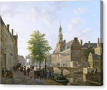 View Of The Old Women And Children Home To The Sick Canvas Print by Bartholomeus van Hove