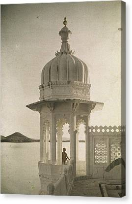 View Of The Palace Of Maharajas Pond Canvas Print by Gervais Courtellemont