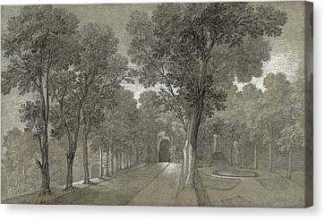 View Of The Park At Arcueil Canvas Print