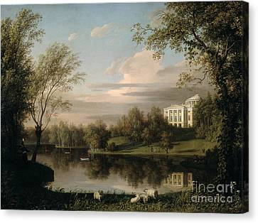 View Of The Pavlovsk Palace Canvas Print by Carl Ferdinand von Kugelgen