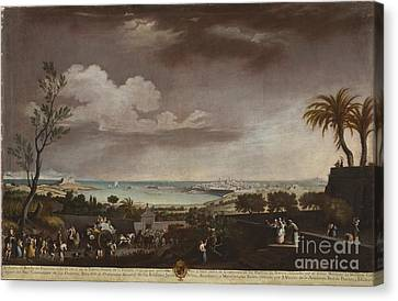 Ruiz Canvas Print - View Of The Port Of Antibes by MotionAge Designs