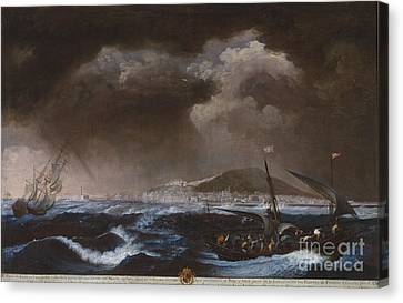 Ruiz Canvas Print - View Of The Port Of Sete by Celestial Images