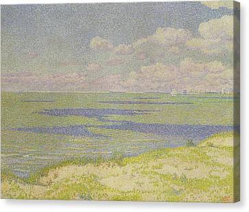 View Of The River Scheldt Canvas Print by Theo van Rysselberghe