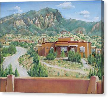View Of The Sandias Canvas Print by Oz Freedgood