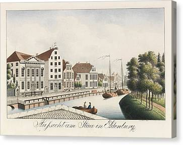 View Of The Stau In Oldenburg Canvas Print