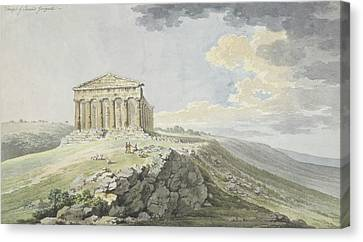View Of The Temple Of Concord At Agrigento Canvas Print by MotionAge Designs