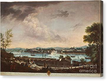 Ruiz Canvas Print - View Of The Town And Port Of Bayonne by Celestial Images