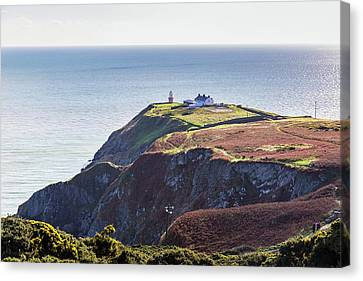 Canvas Print featuring the photograph View Of The Trails On Howth Cliffs And Howth Head In Ireland by Semmick Photo