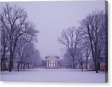 View Of The University Of Virginias Canvas Print