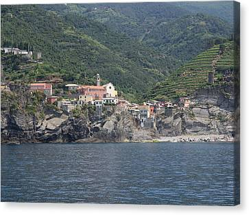 View Of The Vernazza, La Spezia Canvas Print