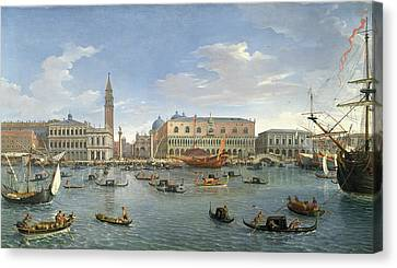 Italian Islands Canvas Print - View Of Venice From The Island Of San Giorgio by Gaspar van Wittel
