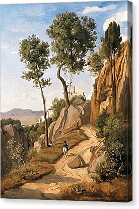 View Of Volterra Canvas Print