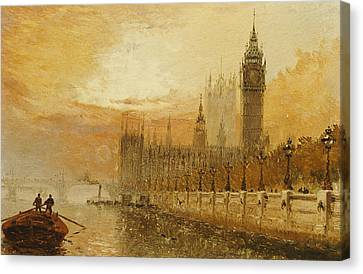 View Of Westminster From The Thames Canvas Print