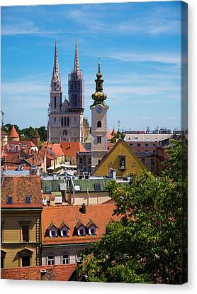 View Of Zagreb Canvas Print by Rae Tucker