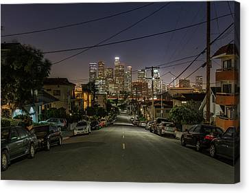 Street Shot Canvas Print - View On Dtla by Urbanexpl0rer