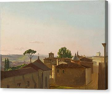 Canvas Print featuring the painting View On The Quirinal Hill. Rome by Simon Denis
