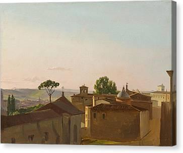View On The Quirinal Hill. Rome Canvas Print by Simon Denis