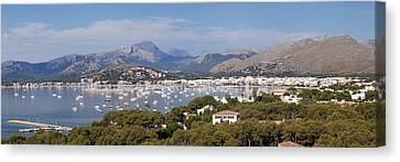 View Over Port De Pollenca To Serra De Canvas Print