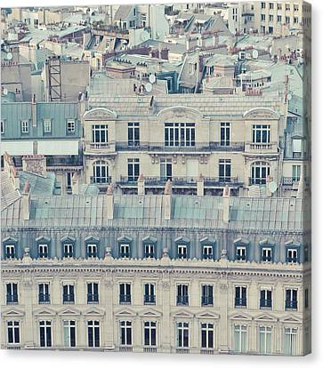 View Over Rooftops Of Paris Canvas Print