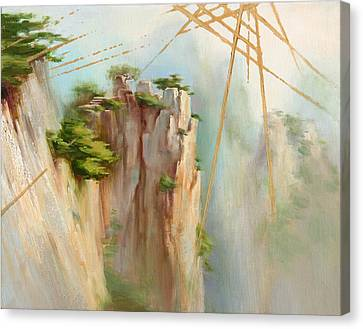 Canvas Print featuring the painting View Spot by Dave Platford