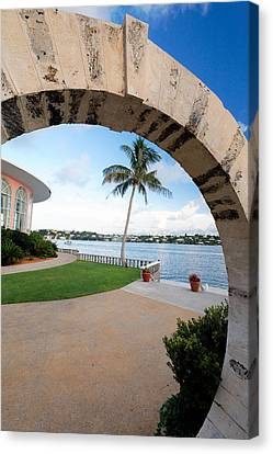 View Through A Moon Gate Canvas Print by George Oze