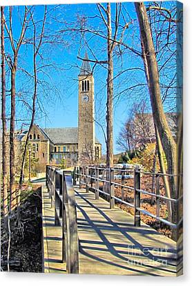 View To Mcgraw Tower Canvas Print