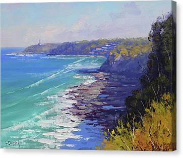 Blue Landscape Seascape Waves Canvas Print - View To Norah Head Australia by Graham Gercken